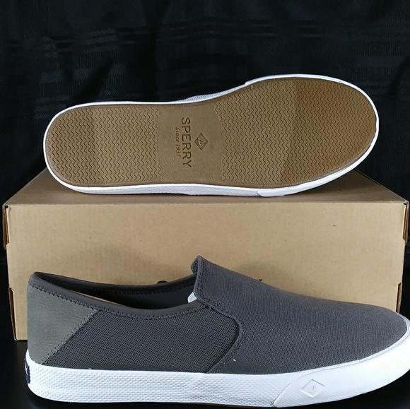 5a6d6f3e4a29 Sperry Striper II Slip On Sneaker Grey